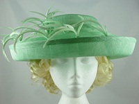 Blackberry Hats Mint Green Occasion Hat